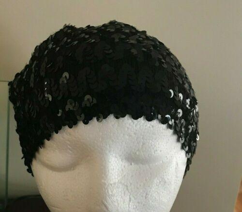 black sequins beanie