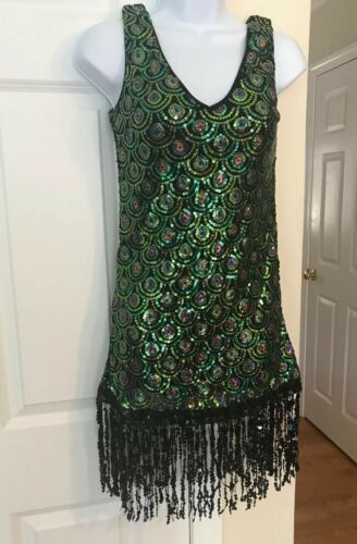 weissman sequins dance dress